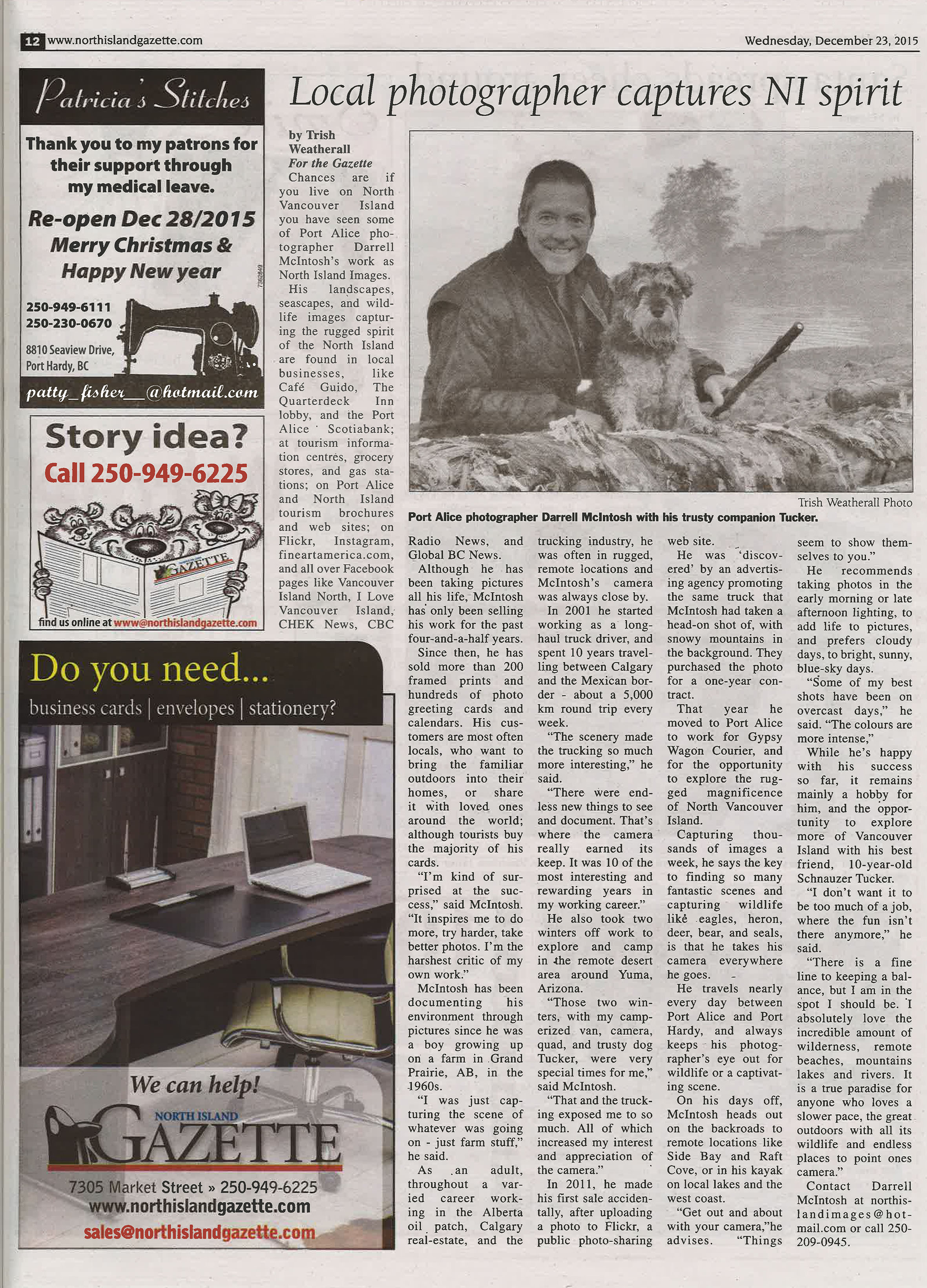Darrell McIntosh Article NI Gazette -300 dpi- Dec 23 2015