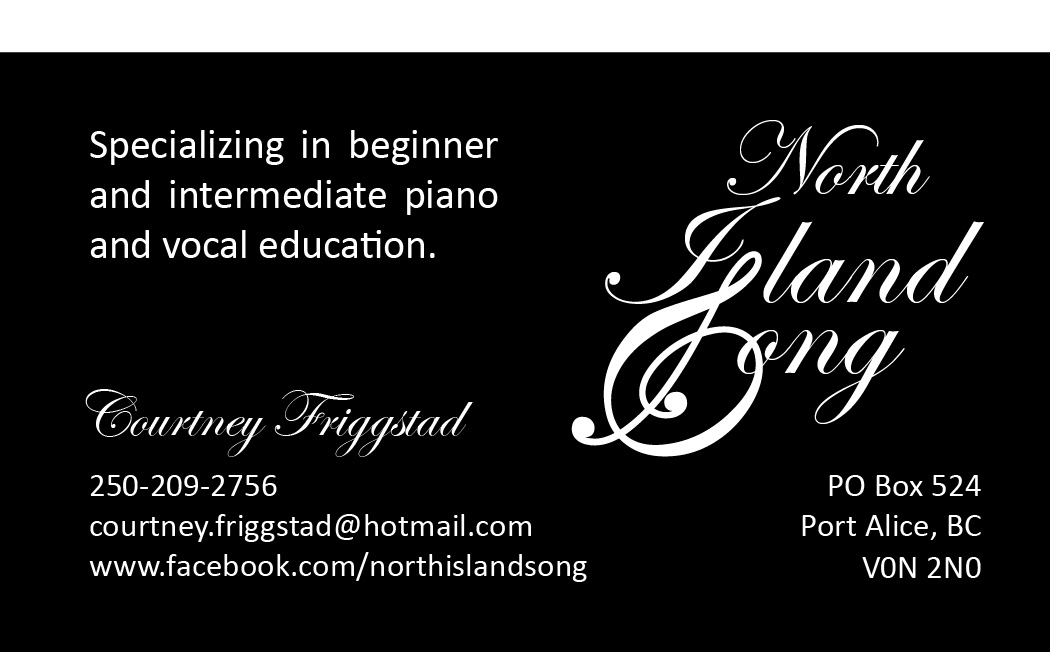 North Island Song Business Card by The Assistant